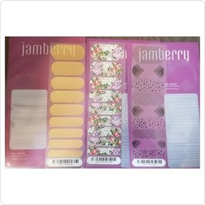 💥5 for 25💥 Jamberry Nail Wraps 3 Half Sheets